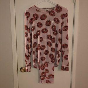 Victoria's Secret PINK donut pajamas 2 piece